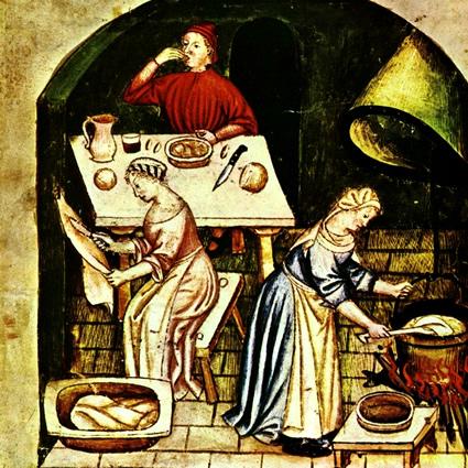 A tavola nel medioevo il racconto ed for Castelli arredamenti