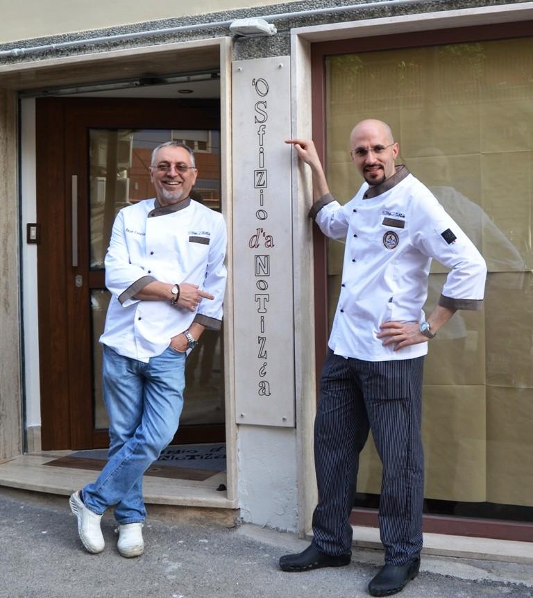 Enzo Coccia con Eduardo Ore bassa risol