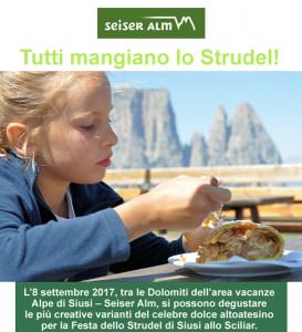 Sulle Dolomiti la Festa dello Strudel. Appuntamento l'8 settembre