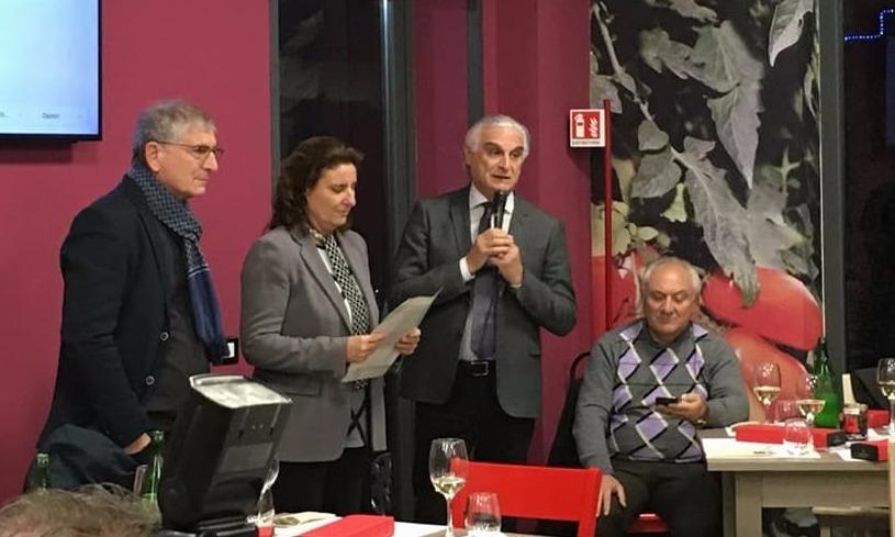 da sx Edoardo Ruggiero - Laura Gambacorta ed il sindaco di Sarno