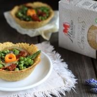 Cestini di couscous con verdure alla paprika